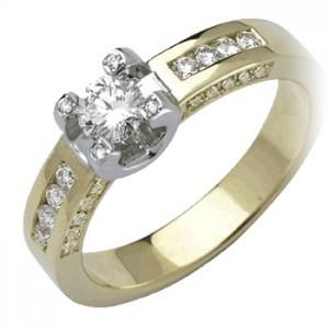 Geel gouden Eclat ring met briljant bij Juwelier Le Cloc Caduc in Boxtel