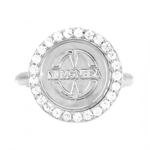 Mi Moneda ring zilver deluxe top